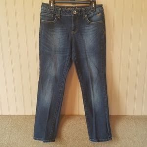 Justice jeans.  Girls size 8 1/2.  Blue